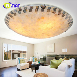 Wholesale Mediterranean Flooring - FUMAT Tiffany Mediterranean style natural shell ceiling lights lustres night light led lamp floor bar home lighting