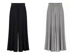 Wholesale Elegant High Waist Trousers - 2016 Summer women's elegant style wide-leg pants,large size female formal full length chiffon trouser Free Shipping