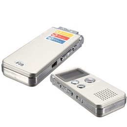 Wholesale Telephone Portable Digital - Wholesale- ELEGIANT Rechargeable 8GB Portable Digital Voice Recorder Audio Dictaphone MP3 Player Telephone Recorder Screen For Meeting