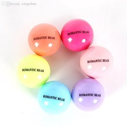 Wholesale Fruit Care - Wholesale-6 Color Round Ball Fruit Flavor Embellish Lip Balm, Natural Organic Chapstick, Lip Care Wholesale