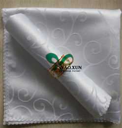 Wholesale Damask Table Decorations - Jacquard Damask Table Napkin For Wedding Table Cloth Decoration