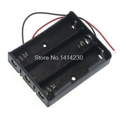 suportes de bateria de plástico Desconto Venda por atacado - Plástico 3 Way 18650 Suporte De Caixa De Armazenamento Da Bateria Para 3x18650 Baterias Com Fio Leva 11.1 V
