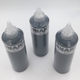 Wholesale Black Body Paint - Free shipping Dynamic professional Permanent Tattoo Makeup Ink 250ML 12oz 330g Black Color Tattoo Pigment kit for body paint