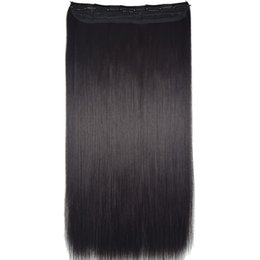 """Wholesale Heat Resistant Synthetic Hair Extension - Wholesale- TOPREETY Heat Resistant B5 Synthetic Hair Fiber 24"""" 60cm 120gr Straight 5 Clips on clip in Hair Extensions 90 Colors Available"""