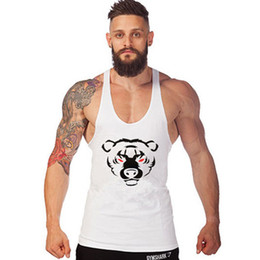 Wholesale Sexy Brown Bear - Wholesale- 2017 Summer Bear Wear Tank Top Men Bodybuilding Fitness Stringer Singlet Golds Cotton Tank Tops Sleeveless Shirt European size