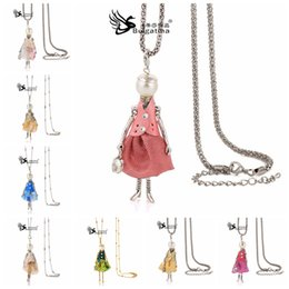 Wholesale Dolls Necklace - Wholesale-Best Gifts Choker Doll Necklaces & Pendants For Girls Cute Style New Design Fashion Jewelry accessories Drop Pendant Necklaces