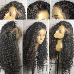 Wholesale Kinky Lace Front Wigs Stock - Glueless Lace Front Wig In Stock Mongolian Afro Kinky Curly Hair Wig Kinky Curly Full Lace Human Hair Wigs