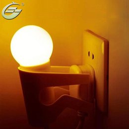 Wholesale Bedroom Design Men - Wholesale- Hot Sale Modern Novelty design LED Light Control Small man Night Light bedroom,Free Shipping