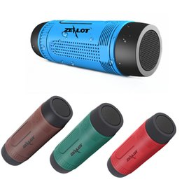 Wholesale S1 Flashlight - Zealot S1 Portable Waterproof Bluetooth Speaker Outdoor Wireless Speaker With LED Flashlight Support TF FM Radio For Phones PC Free DHL