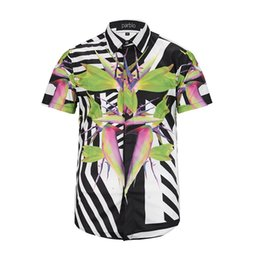 Wholesale New Silk Shirts - 17The New summer new fashion Wave Of Men Floral Print Colour Mixture Luxury Casual Harajuku Shirts Short sleeve Men's Medusa Shirts M--3XL