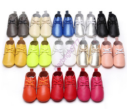 Wholesale Walking Shoes Infant Toddler Leather - INS Toddler Genuine Cow Leather Baby Lace UP Shoes Infant Girls Boys Soft Sole Casual Indoor Outdoor Walking Sneakers Shoes Prewalker