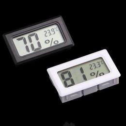 Argentina nuevo negro / blanco Mini Digital LCD Medio Ambiente Termómetro Higrómetro Humedad Medidor de temperatura En la habitación refrigerador nevera Suministro