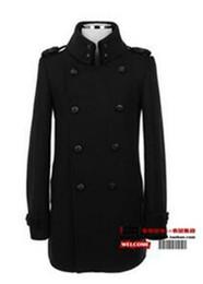 Wholesale Men S Woollen Coats - Men in the spring and autumn fashion boutique elegant han edition of fashion trench coat woollen coat of England   S-3XL