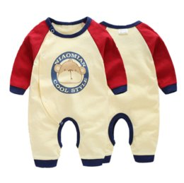 Wholesale Super Man Rompers - 2017 NewNew INS Cotton Long sleeve Baby Boys Girls Toddler Monkey Super men printed open Rompers