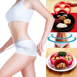 Wholesale Plastic Weight Plates - 20cm weightloss meal measure perfect portion weight control plate container tray diet tool for slimming figure