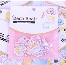 Wholesale Decoration Label - Wholesale- 78pcs Or 80pcs pack Funny Letters&Numbers Sealing Stickers Diary Label Stickers Pack Decorative Scrapbooking DIY Stickers