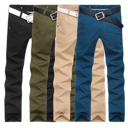 Wholesale Flying Colors Clothing - Wholesale-2016 new arrival Male casual pants male men's clothing trousers men's slim straight casual trousers 4 colors