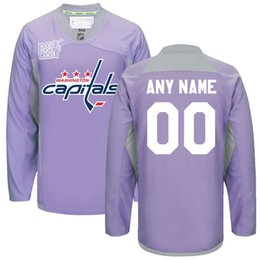 Wholesale Capital Names - Custom Washington Capitals Jerseys 2016 Hockey Fights Cancer Practice Jersey Any Name Any Number Washington Capitals Hockey Jerseys Purple