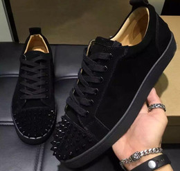 Wholesale Spike Studded - High-end custom metal studded spikes casual shoes 2017new for men and women low top sneakers with soft bottom,genuine leather size:36-46