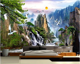 Wholesale Natural Entertainment - Wholesale-China landscape Photo Wallpaper Natural Scenery Mural Wallpaper Home Decor Wall Mural