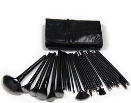 Wholesale Usa Cosmetics - VANDER 32Pcs Professional Makeup Brushes Eyebrow Shadows Make Up Cosmetic Brush Set Kit Tool + Roll Up Case USA Stolck Free Drop Ship