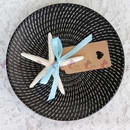 Wholesale Place Cards Wedding Reception - Free Shipping(20pcs lot)Starfish Place Card Hold for Beach Wedding Natural Shell Conch Reception Table Chic Decor