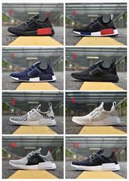 Sapatos azuis agradáveis on-line-Adidas NMD shoes Corredor por atacado XR1.5 Primeknit OG Preto Triplo Branco Nice Kicks Circa Malha Das Mulheres Dos Homens Em Execução Sapatos de Melhor Qualidade Sapatilhas