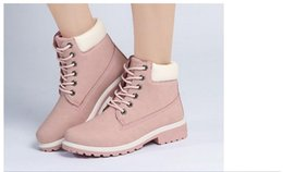 Wholesale Snow Boots Silver Color - New 2017 Autumn Early Winter Shoes Women Flat Heel Boots Fashion Women's Boots Brand Woman Ankle Botas Hard Outsole 36-46