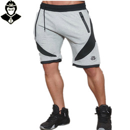 Wholesale Workout Shorts Men - Wholesale-New Muscle Brothers Gym Aesthetics Men's Sports Breathable And Fitness Jogging Shorts Workout Cotton Skinny Professional Shorts