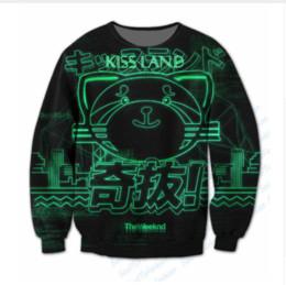 Wholesale Sublimation Sleeve - Newest Fashion women men The Weeknd Funny 3D Sublimation print Crewneck Sweatshirts WYF094