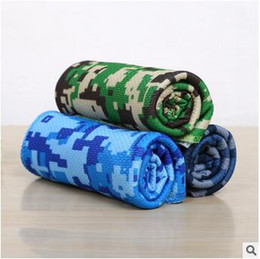 Wholesale Children Workouts - 30*90cm Camouflage Cool Cooling Towel Camping Hiking Gym Exercise Workout Cold Towel Ice Fabric Material Cool Towel CCA5784 300pcs