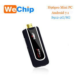 Pc hd en Ligne-H96 pro Mini PC Amlogic S912 2G 8G 64bit android 7.1 TV Stick 2.4G Wifi HDMI TV Stick 4K BT4.1 Full HD h96 pro plus