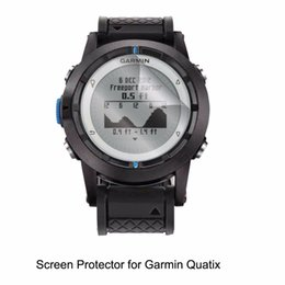 Wholesale Lcd Bubble - Wholesale- 3* Clear LCD PET Film Anti-Scratch   Anti-Bubble   Touch Responsive Screen Protector Cover for Garmin Quatix
