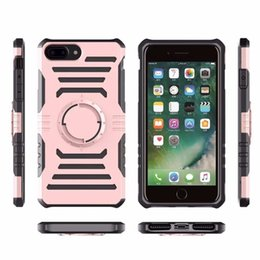 Wholesale Dual Arm - For iPhone6 plus case Hybrid Armor TPU Aluminum Hard Case Dual Layer Slim Wave ShockProof Cover With Arm belt with packing