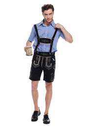 Wholesale Wholesale Dress Clothing Men - Bavaria Germany Beer Festival Costumes Mens Beer Clothing Pure Cotton Leather Occupational The Stage Is Dressed Up