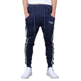 Wholesale Wholesale Hip Hop Sweat Pants - Wholesale-Hip Hop Slim Fit Sweatpants for Dance Pants Outdoors Cargo Loose Trousers Men Sweat Harem Joggers Pants