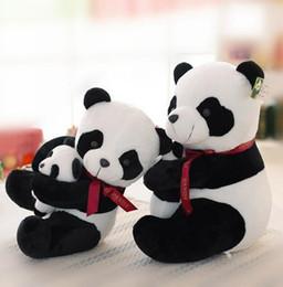 Mamas papas peluche online-Simpatico farfallino Panda giocattoli di peluche baby panda mamas papas paternity panda cuscino bambola bambola regalo di compleanno