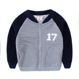 Wholesale Kids Baseball Jackets Girls - Spring New Baby Sport Baseball Jacket Striped Patch Kids Outerwear & Coats New Brand Children Clothing Boys and Girls Jackets