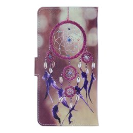 Wholesale Cat Iphone 4s Cases - 4.0 to 5.5 inch Universal Flower Wallet Leather Pouch For IPhone 5S 6 6S 7 Plus 4 4S Mate 8 9 S6 S7 Edge Butterfly Cat Case Card Bag Cover