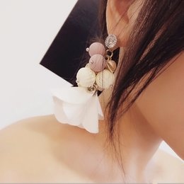 Wholesale Korean Handmade Earrings - 2017 Korean Fashion Exaggerate Earrings Pure Handmade Shiny Rhinestonea Colorful Beads Multi-elements Long Drop Tassel Brincos