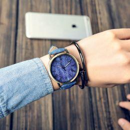 Wholesale Ladies Wooden - Relojes Quartz Men Casual Wooden Color Leather Strap Male Wristwatch Relogio Masculino Ladies Watch Female Watches