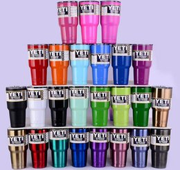 Wholesale Cool Metal Logo - TETI 30 oz 20oz cup large capacity cup has a vacuum double wall to keep cool or hot customizable LOGO multiple colors