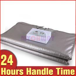 Wholesale Sauna Blankets - 2 Zone Far Infrared FIR Sauna Slimming Blanket Weight Lose Spa Detox Anti-aging Fat Reduce Machine Spa