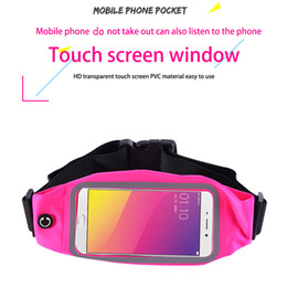 Wholesale Outdoor Protective Iphone Cases - Unisex Waterproof Touch Protective Case Cover for 5 inch Universal Phone Outdoor Sport Waist Bum Bag Money Belt Pack for iPhone 6 6s