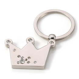 Wholesale Wedding Souvenirs Wholesale China - Crown Keychain Novelty Pendant Gift Key Ring for Wedding Souvenirs