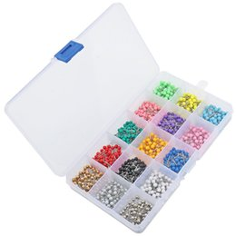 Wholesale Pins Map Tacks - 1500 Pieces 15 Colors Map Tacks Push Pins Plastic Head With Steel Point, 1  8 Inch