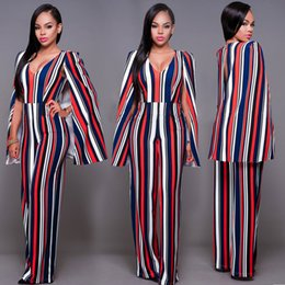 Wholesale Women S Chic - chic style cloak shoulder backless deep v neck full length long jumpsuit for mature women