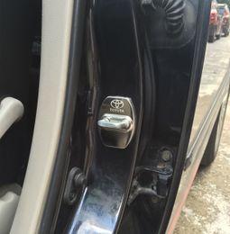 Wholesale Bmw Black Set - Car Accessories door lock cover for bmw toyota volkswagen nissan infiniti audi civic opel emblems door lock protector car styling 4PCS SET