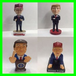 Wholesale Doll Figurine Wholesale - 2017 USA President Donald Trump Home Decorative Articles Resin Little Figurine Trump Dolls Novelty Party Favor Festival Gifts