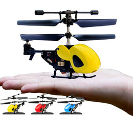 Wholesale Model Helicopters Radio Controlled - 2.5 Channel BOHS Mini Micro RC Helicopter Fuselage Portable Remote Radio Control Aircraft Gyroscope Plane Model Toys with Gyro